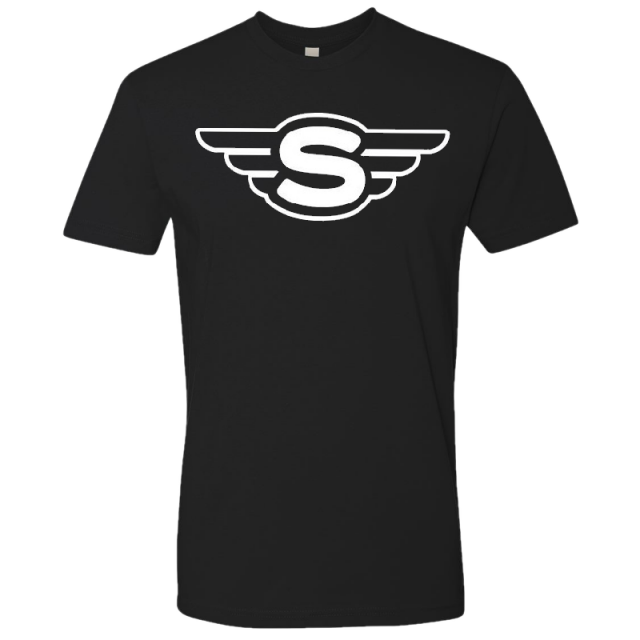 Struggle Jennings Black Wings Logo Tee